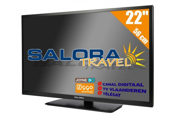 Salora 22 inch HD Travel TV 12 en 230 Volt Satelliet